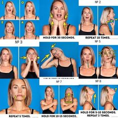 Reduce Face Fat, Face Yoga Exercises, Double Chin Exercises, Fitness Tips, Health Fitness, Belly Fat Workout, Transformation Body, Lose Belly Fat, Stay Fit