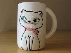 Vintage Cool 1960s Holt Howard Cozy Kitten Ceramic Mug w/ Original Stock Box - Made in Japan