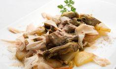 Receta de Alcachofas, patatas y foie