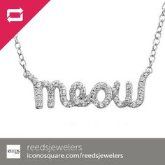 From @reedsjewelers A Tender Voices Meow Necklace at http://www.reeds.com/ASPCA-Tender-Voices-Meow-Necklace-1-5ctw-pluN80023D.html #fashionjewelry #aspca #adoptapet