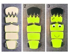 How to make this adorable Frankenstein puzzle cookie. This cute guy would be the perfect addition to any Halloween treat table or even in the center if a charcuterie board. Learn how to make him here. Halloween Puzzles, Scary Halloween, Halloween Treats, Halloween Cookies Decorated, Cookie Tutorials, Cookies For Kids, Royal Icing Cookies, Birthday Cookies, Cookie Designs