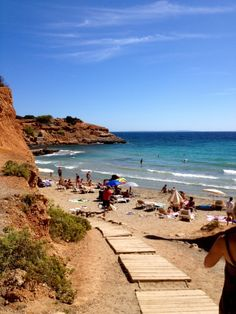 Glorious, historic Sa Caleta beach, #Ibiza.