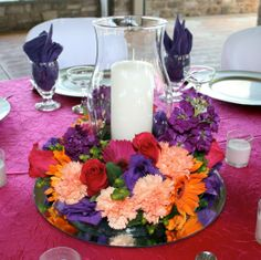 Candle Centerpiece Of Craft Your Own Wedding Centerpieces