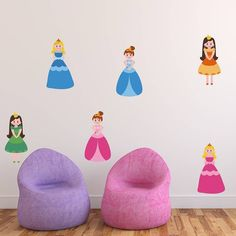 Princess Fabric Wall Stickers Pack from notonthehighstreet.com