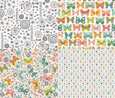 Vintage Garden Delights fabric by christinewitte on Spoonflower - custom fabric