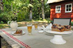 Kopje thee in de tuin van vakantiewoning Erve Ensink #Drenthe #Schoonebeek