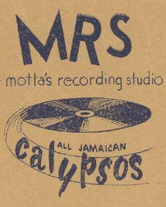 Motta's recording studio in Kingston. Early poster