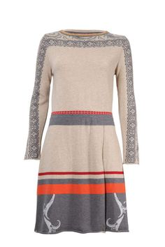 Dress Intarsia Pattern - Dress | Ivko Woman. Add nice colour scarf or bijoux in your colours.