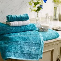 Designers Guild Coniston Turquoise Towels   Everything Turquoise