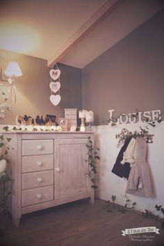 chambre bebe Louise-A lOree des Baby Bedroom, Nursery Room, Kids Bedroom, Bedroom Decor, Little Girl Rooms, Sweet Home, House Design, Interior Design, Home Decor