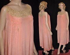 1920s Pink Goddess Rare Pin-Pleated 1920's by SilverScreenStuff