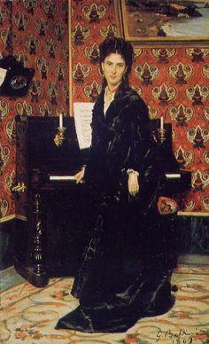 TICMUSart: Portrait of Mary Donegan - Giovanni Boldini (1869)