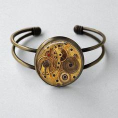 Bridesmaids Gift Idea - Steampunk Jewelry Antique Style Bronze Cuff by MissingPiecesStudio, $15.95