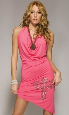 Design Halter Dress by Forplay In Pink