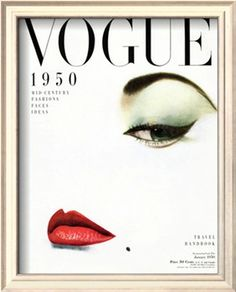 vogue cover - january 1950 giclee print by erwin blumenfeld at art.com