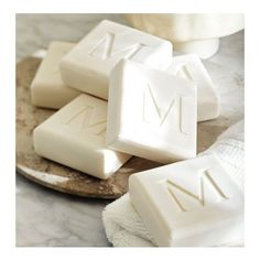 Square Initial Soaps - Set of 4