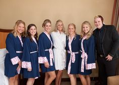 San Diego Photographers-- bridal party before the big day, in Doie Lounge robes