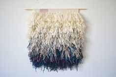Hey, I found this really awesome Etsy listing at https://www.etsy.com/listing/183364154/ombre-hand-knotted-woven-wall-hanging