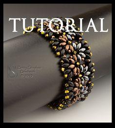 Beading Tutorial for Metallic Duos Bracelet digital download