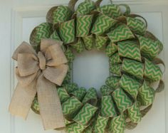 St. Patrick's Day wreath from etsy