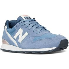 New Balance Women's 696 Summer Utility Casual Sneakers from Finish... ($80) ❤ liked on Polyvore featuring shoes, sneakers, summer shoes, vintage style shoes, new balance, utility shoes and low sneakers