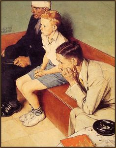 'The Waiting Room'  : by NORMAN ROCKWEL.