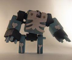 Robots hechos con madera reciclada ( 22 imagenes) | Quiero más diseño