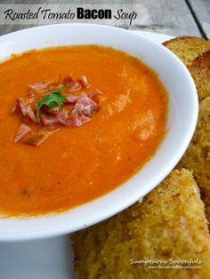 Roasted Tomato Bacon Soup-10 Delicious Soup Recipes
