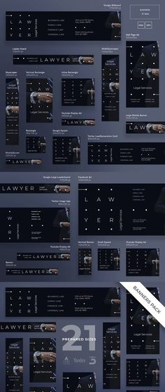Banners Pack   Lawyer Services