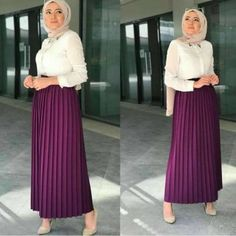 maroon pleated skirt-Comfy casual hijab outfits – Just Trendy Girls