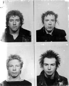 punk Late 77 Sex Pistols passport photos (more - Punk Rock, God Save The Queen, Mode Punk, Sid And Nancy, Johnny Rotten, 70s Punk, The Clash, Music Photo, Music Is Life