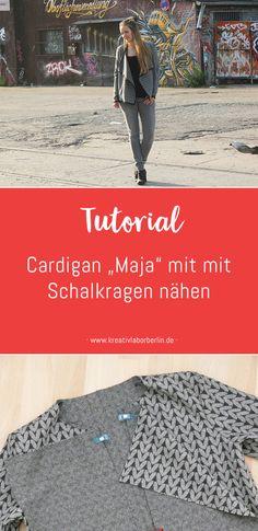 "Nähen mit Svenja: Cardigan ""Maja"" mit Schalkragen (Nähanleitung)"