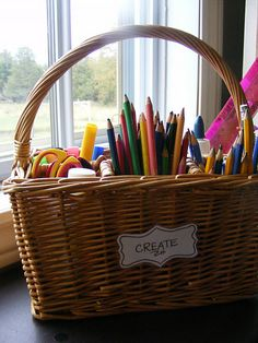 silverware caddy for art supplies