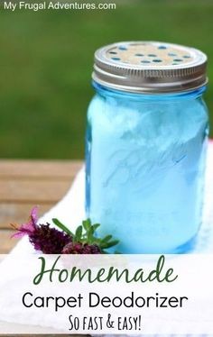 DIY homemade carpet deodorizer {so fast & easy} incredibly cheap to make and it will leave your house smelling so fresh and clean! perfect for car air freshening as well! Homemade Cleaning Products, Cleaning Recipes, Natural Cleaning Products, Cleaning Hacks, Cleaning Quotes, Household Products, Cleaning Supplies, Rug Cleaning, Cleaning Solutions