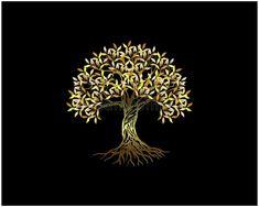Banyan Tree Bonsai, Hp Logo, Golden Tree, Golden Logo, Tree Logos, Demi Lovato, Acacia, Black Backgrounds, Identity