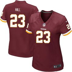 Nike Game DeAngelo Hall Burgundy Red Women's Jersey - Washington Redskins #23 NFL Home