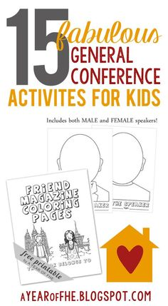 A Year of FHE: 15 Fabulous General Conference Activities - Oct. Activities For 2 Year Olds, Primary Activities, Primary Lessons, Book Activities, Sunday Activities, Activity Days, Fhe Lessons, General Conference Quotes, Conference Talks