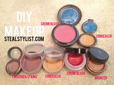 DIY CREME BLUSH & CREME BRONZER! #ORGANIZEOCTOBER #HomemadeAcneTreatment #HomemadeFaceMaskRecipe #BlusherMakeup How To Apply Blusher, Blusher Makeup, Homemade Blush, Homemade Acne Treatment, Home Remedies For Acne, Homemade Face Masks, Homemade Beauty Products, Diy Makeup, Bronzer