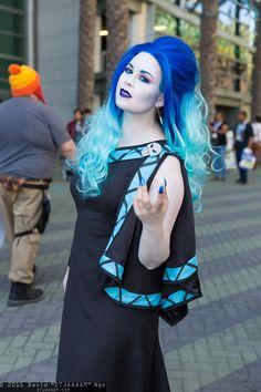 Female Disney Hades cosplay