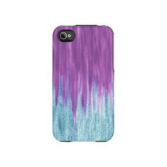 iPhone Case Aqua Berry Sparkle Uncommon Slider Case Pink Purple Aqua Teal Painting Abstract iPhone 4s 3GS iPod. $45.00, via Etsy.