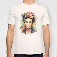 Frida+Kahlo+T-shirt+by+Tracie+Andrews+-+$18.00