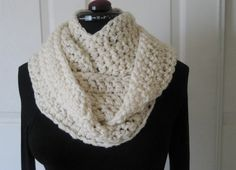 Crochet Infinity Scarf Cowl Neck Warmer Circle by PeppersAttic