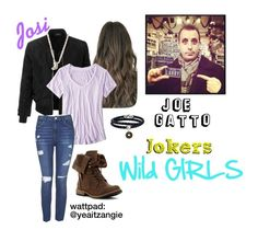 Jokers: Wild Girls [] Josi [] Joe Gatto by yea-its-angie on Polyvore featuring polyvore fashion style American Eagle Outfitters LE3NO Topshop Phillip Gavriel Nadri clothing