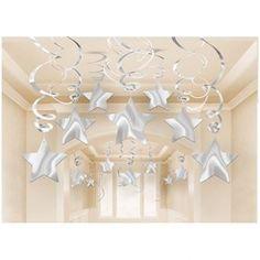 Venta de Decorados espirales estrellas plata (30)