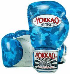 Yokkao Muay Thai Boxing Gloves- Blue Camo