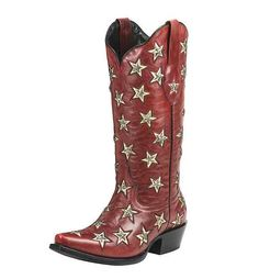 Red boots inspired by Miranda Lambert's new video! http://www.countryoutfitter.com/style/11-red-boots-inspired-by-miranda-lamberts-new-video-for-little-red-wagon