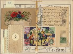A previous postcard swap - maps - Margarete Miller Create Collage, Collage Art, Art Collages, Vintage Ephemera, Vintage Paper, Vintage Crafts, Glue Book, Birds And The Bees, Fabric Journals