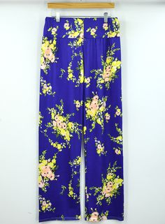 Stylish Floral Print Flare Leg Opening Pants.Check more from www.oasap.com .