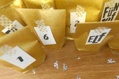 Geschwister Gezwitscher: Glitzernder Adventskalender, DIY glitter paper advent calendar