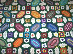 Stained Glass Scrap Afghan Pattern | photo
